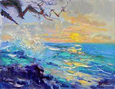 Sunset Makena Park by Don Sahli Oil ~ 24 x 30