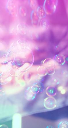 Pink, Purple, Pretty, Wallpaper, Background, iPhone, HD, Bubbles, Clouds