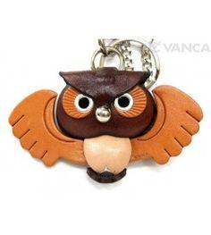 Owl Handmade Leather Animal/Bag Charm