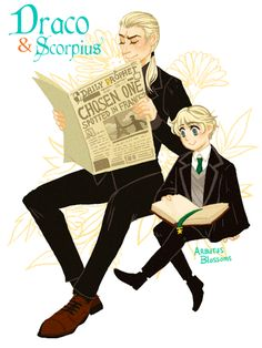 Draco and Scorpius Malfoy gif