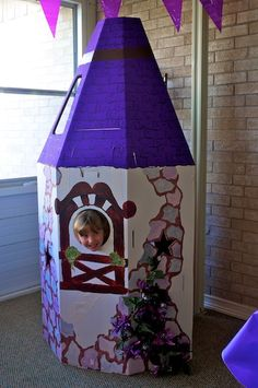 Hand Painted Tangled Tower - photo opps