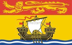 New Brunswick Flag Sticker (Canada Canadian Province) New Brunswick Flag, New Brunswick Canada, Canadian Provincial Flags, Canadian Flags, Canadian Things, Atlantic Canada, O Canada, Prince Edward Island, Flags Of The World