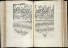 Fig 7-16 (Substituted for image in book) Aldus Manutius, Hypnerotomachia Polophili. The woodcut print images represent the best illustrations of the period and are exquisitely blended with the typography in line quality and weight.