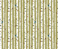 This is what I think I'm going to use on my rocking chair.  --birch fabric by troismiettes on Spoonflower - custom fabric