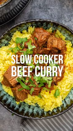 You will love this fuss-free Slow Cooker Beef Curry! Incredibly easy to make, packed with flavour and Syn Free on Slimmi Slow Cooker Slimming World, Slimming World Recipes Syn Free, Slimming World Beef Curry, Slimming World Beef Recipes, Slimming World Fakeaway, Slimming World Dinners, Slimming World Syns, Slow Cooker Beef Curry, Healthy Slow Cooker