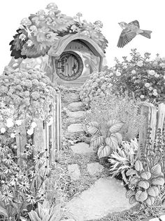 Free coloring page from Creative Country Scenes by Genevieve Barns.