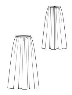 Fashion Artwork, Fashion Design Drawings, Fashion Sketches, Skirt Patterns Sewing, Clothing Patterns, Fashion Flats, Skirt Fashion, Flat Drawings, Fashion Vector