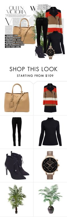 """Outfit # 2934"" by miriam83 ❤ liked on Polyvore featuring Balenciaga, Prada, Yves Saint Laurent, Rumour London, Zara, Olivia Burton, Victoria Beckham, Nearly Natural, Ethan Allen and women's clothing"