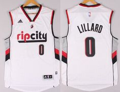 Portland Trail Blazers #0 Damian Lillard Rip City Revolution 30 Swingman 2014 New White Jersey