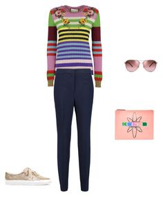 """Untitled #11827"" by explorer-14576312872 ❤ liked on Polyvore featuring Tory Burch, Gucci, Kenzo and By Malene Birger"
