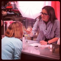 Bobbi Brown, doing what she does best.