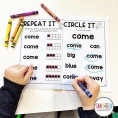 PrePrimer Sight Word Activities Preschool, PreK, Kindergarten, 1st Grade