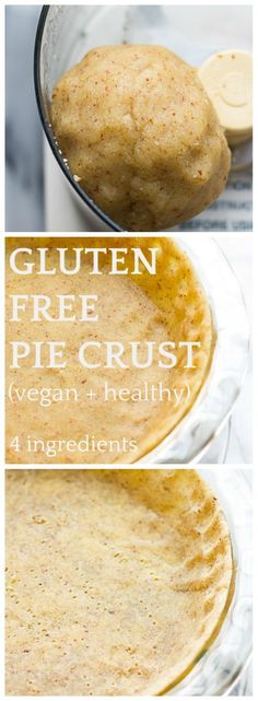 Gluten Free Pie Crust (Vegan + Healthy)