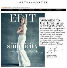 Net-A-Porter's Shoppable Magazine