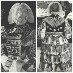 Traditional costumes of Sorbs (also known as Wends, Lusatians, Lusatian Sorbs or Lusatian Serbs) - Western Slavic minority in the territory of Germany. Authentic Costumes, Folk Costume, Mirror Image, Vintage Pictures, Sorbet, Traditional Outfits, Textiles, Pure Products, Drawings