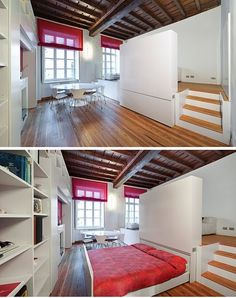 Great use of space in TINY apartment.