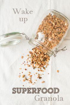 Wake Up Superfood Granola Rezept und Infos zu Nährstoffen und Wirung von Carrots for Claire