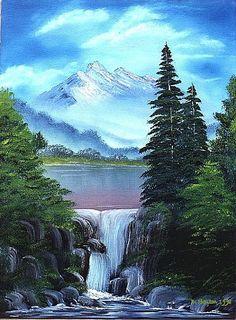 waterfall paintings - Google Search