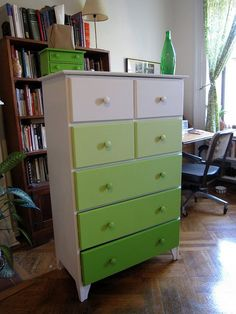 Ombré painted drawers