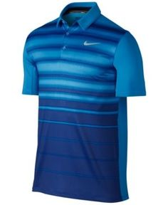 Nike Men's Mobility Fade Striped Golf Polo - Blue S Sport Wear, Sport T Shirt, Golf T Shirts, Polo Shirts, Golf Fashion, Mens Fashion, Black Polo Shirt, Golf Outfit, Fitness Fashion
