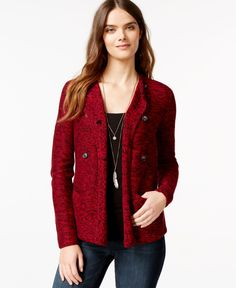 Lucky Brand Long-Sleeve Marled Cardigan