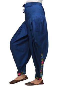 Dark Blue Cotton Readymade Dhoti Pant