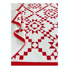 Seeing Stars, quilted and bound! Two Color Quilts, Blue Quilts, Star Quilts, Longarm Quilting, Free Motion Quilting, Scandinavian Quilts, Red And White Quilts, Traditional Quilts, Antique Quilts