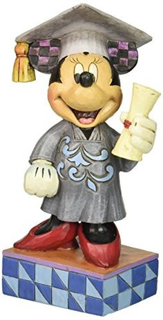 Enesco Disney Traditions by Jim Shore Graduation Minnie Figurine 675 IN *** Details can be found by clicking on the image.