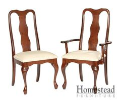 Queen Anne #500 Dining Chairs by Homestead Furniture made in Amish Country.