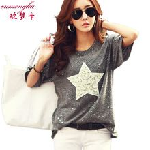 Hunputa Casual Womens Cute Cat Printied Long Sleeves O Neck Sweatshirt Pullover Loose Tops Blouse T-Shirt