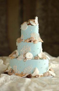 awesome seashell ocean cake