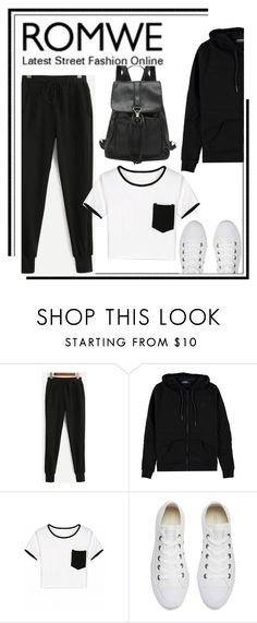 """""""Untitled #491"""" by m-jelic ❤ liked on Polyvore featuring Voi Jeans and Converse"""