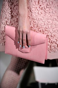 (via people's Style Pinboard / pink on pink on blue. oscar de la renta fall 2012 rtw.)