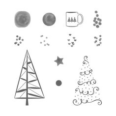 Twinkle Trees Photopolymer Stamp Set by Stampin' Up! Coordinates with Festive Stitching Thinlits Dies
