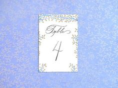 Table Numbers $10 per card