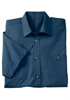 Big and Tall Easy-Care Short-Sleeve Solid Sport Shirt   Top Sellers for Men   KingSizeDirect  Available in 3XLT, in 9 different colors.