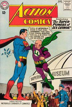 Action Comics 298 Superman Comic Cover Hi-Res Old Superman, Superman Comic Books, Dc Comic Books, Vintage Comic Books, Vintage Comics, Comic Book Covers, Comic Book Characters, Comic Character, Superman Family