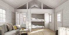 Nyby stuga med loft, öppen planlösning