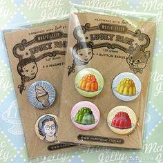 Magic Jellies button badges