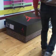 Custom air Jordan shoe box storage w/pull out drawer!