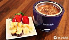 #ValentinesDay treat! Marshmallow Chocolate Fondue #CrockPot www.GetCrocked.com