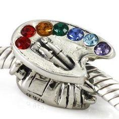 Artist Pallete Sterling Silver Charm for Pandora Bracelet