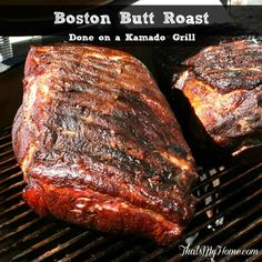 Boston Butt Pork Roast on a Kamado Grill » Recipes, Food and Cooking #KamadoGrill #GrillRecipes Copyright 2014 That's My Home