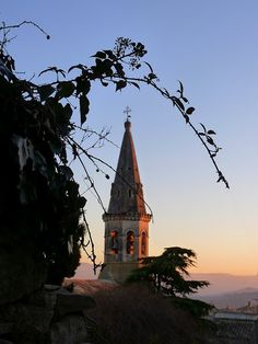 """Saint Saturnin """"Le Clocher"""" wine is named after this """"belltower"""" that is a call to gather to celebrate the love of friends, food and wine."""