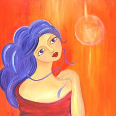 *JUNE* Acrylic painting on canvas  Follow my paintings on ebay http://cgi.ebay.fr/ws/eBayISAPI.dll?ViewItem=161083075859=STRK:MESE:IT