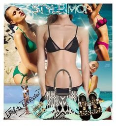 """StyleMoi 1/14."" by zura-b ❤ liked on Polyvore featuring Vanity Fair, Zimmermann, Bardot, Dolce&Gabbana, swimsuit and stylemoi"