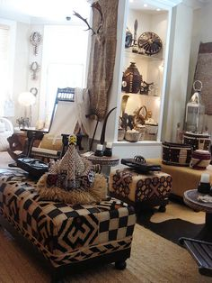 African Kuba Cloth Furniture And Accessories ~ Ethnic Home Awesome Design