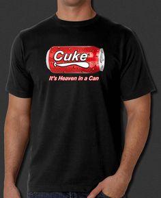 1e05f67267c The IT Crowd Cuke Cola Soda Heaven in a Can New Black T-Shirt S