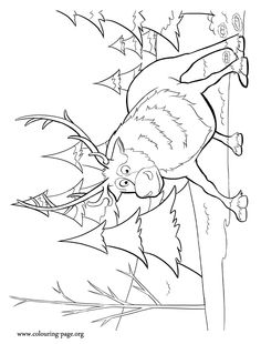 Look! It seems that Sven is scared. Have fun coloring this amazing Disney Frozen movie picture. Just print it!