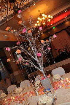 St. Charles Ballroom and our center pieces at the lovely Don CeSar. Thanks, Carter's Florist